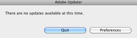Checking for Adobe updates