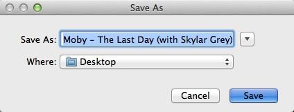Selecting Output File Destination