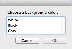 Selecting Background Color