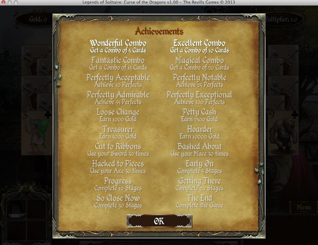 Achievements Window