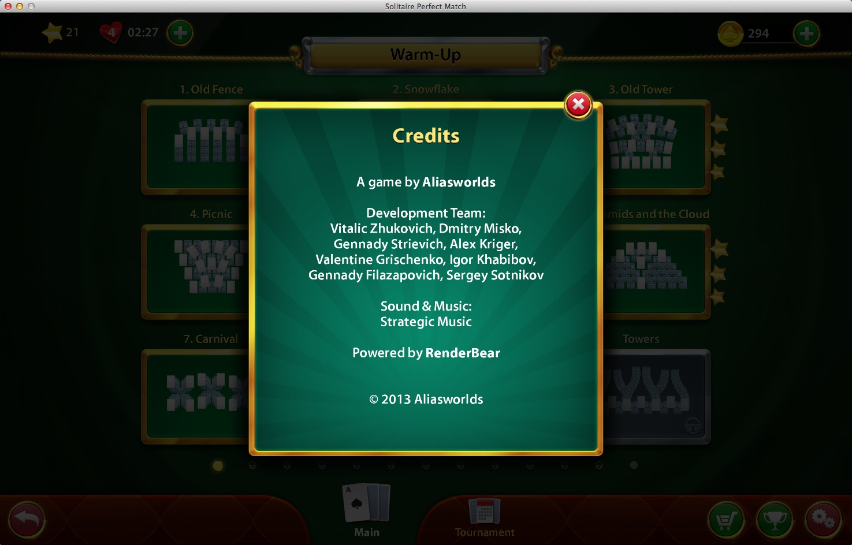 Credits Window