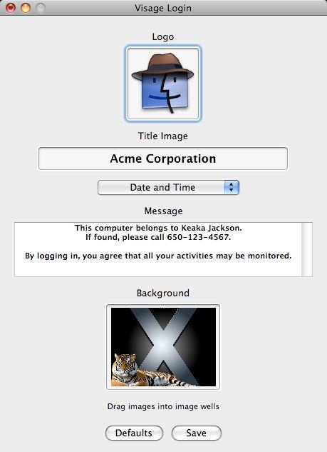 Login screen customized
