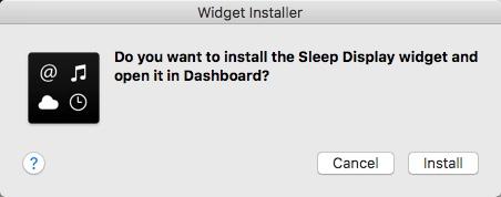 Installing Widget