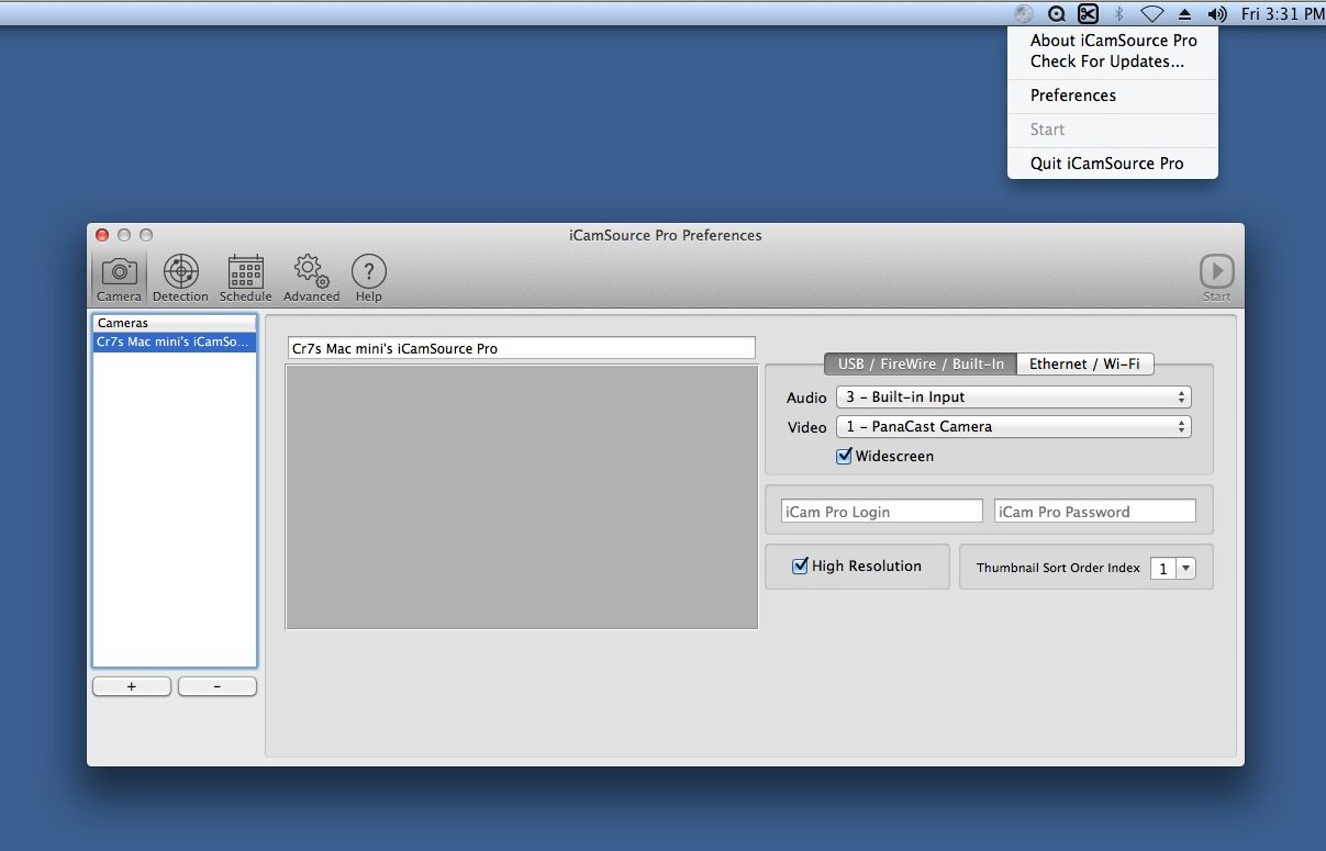 Download free iCamSource Pro for macOS