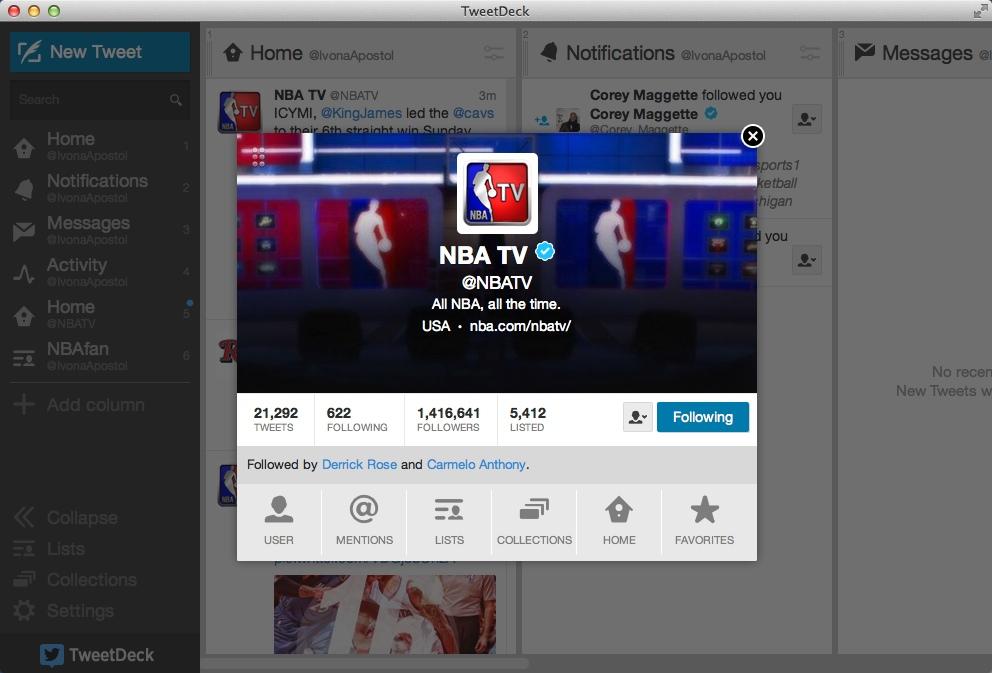 Checking Twitter Account Info