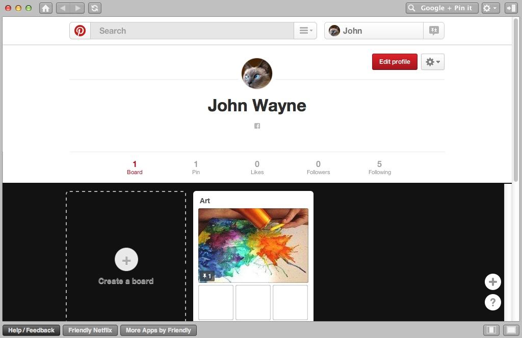 Checking Pinterest Profile