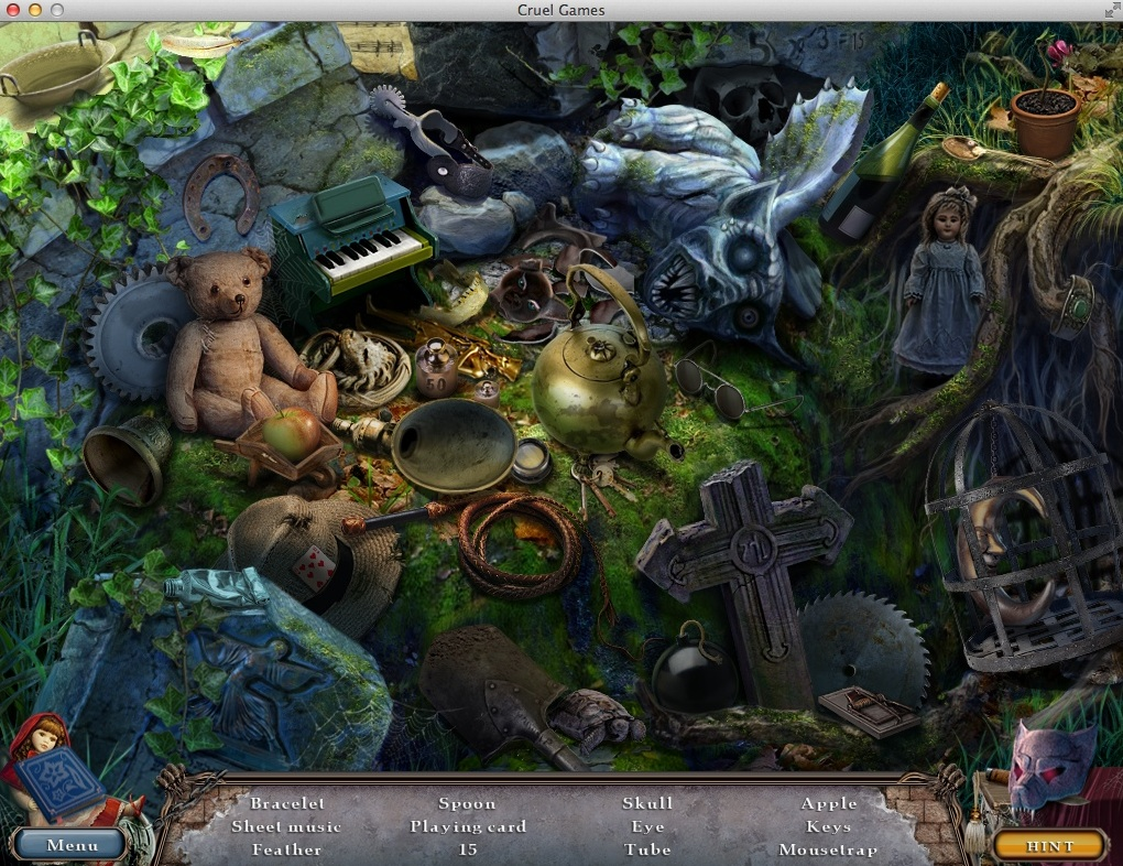 Playing Hidden Object Game