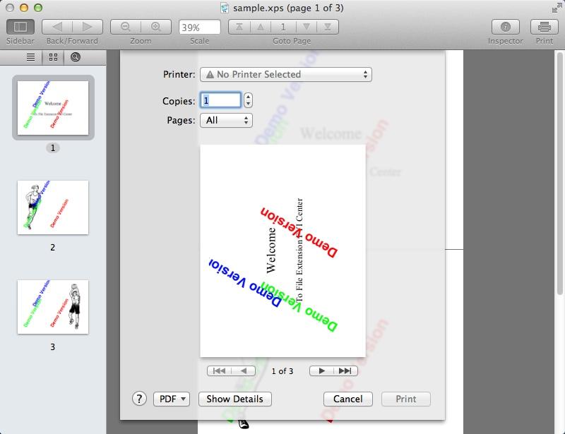 Printing XPS File