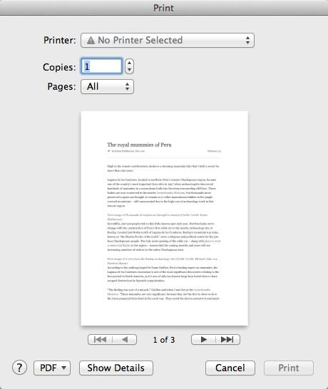 Printing Article
