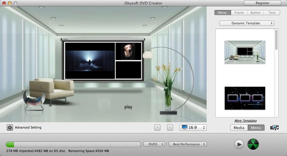 Configuring DVD Menu Settings