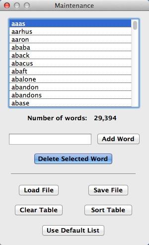 Words List