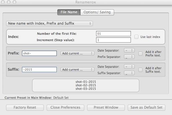 Configuring Renaming Settings