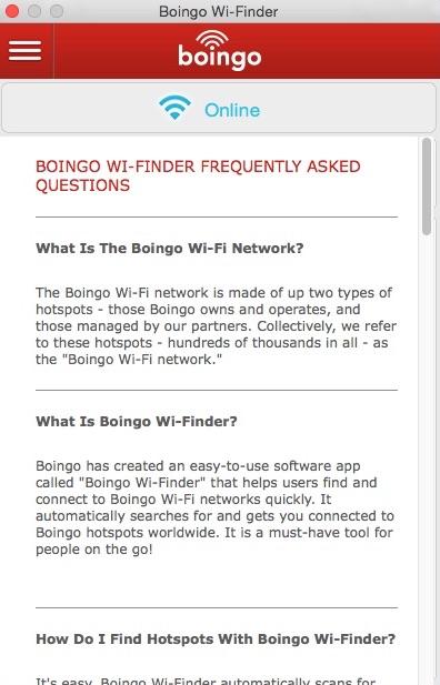 FAQ Window