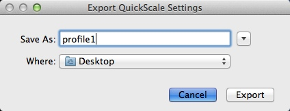 Exporting Output Profile