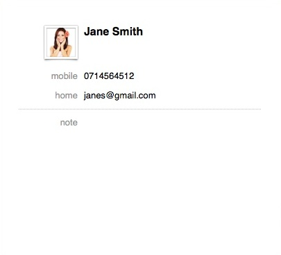 Preview Contact Info