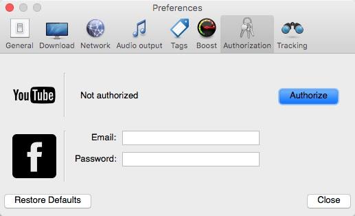 Authorization Options