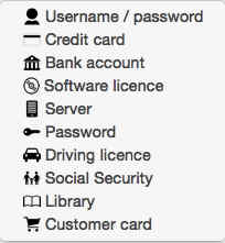 Password Categories