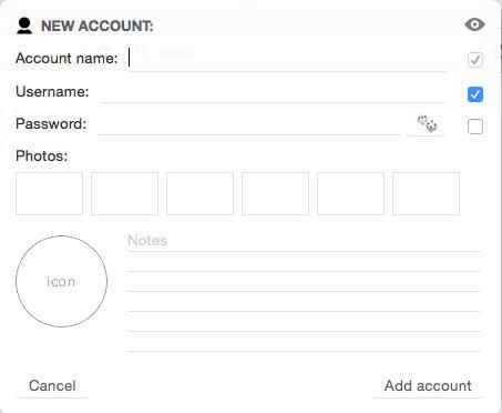 UserName Password Options