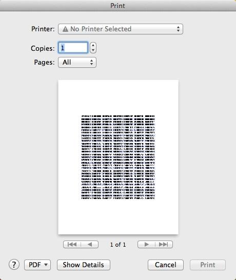 Printing Info