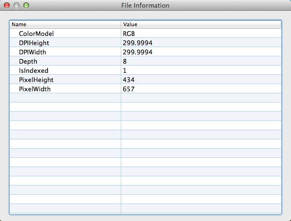 Checking File Info