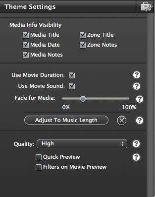 Theme settings