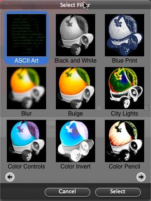 Select filter