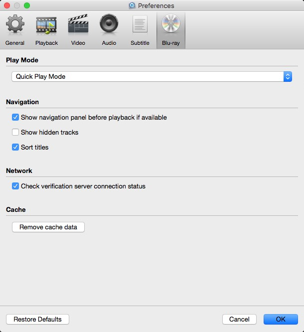 Blu-Ray Options
