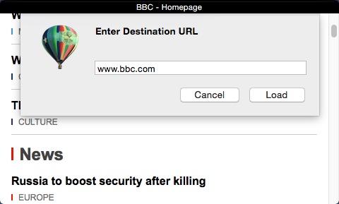 Entering URL