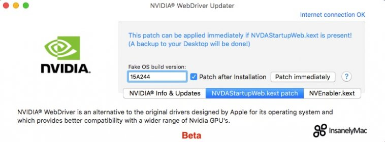 Download free NVIDIA® WebDriver Updater for macOS