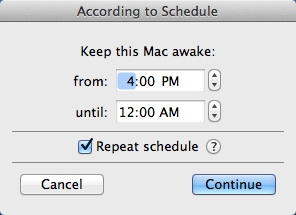 Configuring Schedule Settings