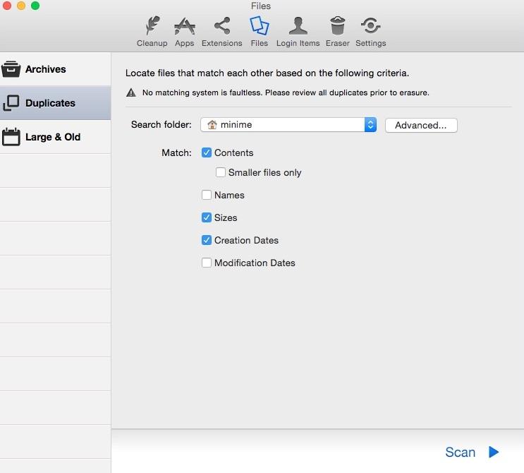 Duplicate Finder Window