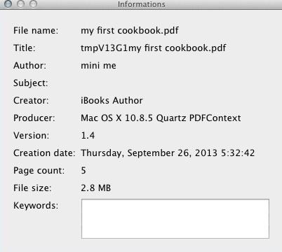 Checking PDF Info