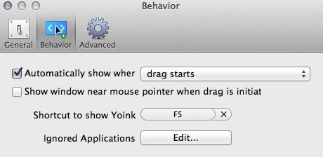 Configuring Behavior Settings