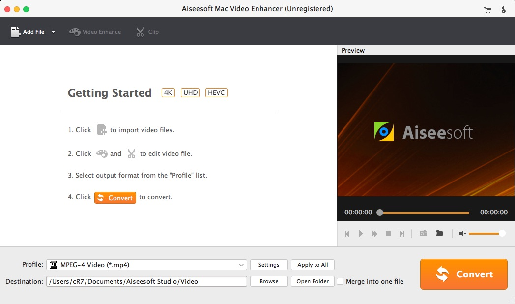 Aiseesoft Mac Video Enhancer for Mac, Aiseesoft Mac Video Enhancer allows  you to edit and enhance video files