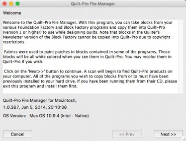 Quilt-Pro File Manager for Mac, This app can copy blocks