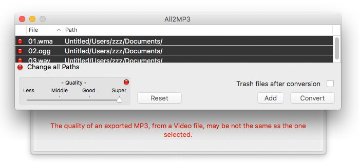 Download free All2MP3 for macOS