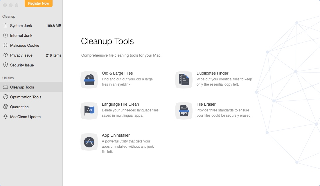 Cleanup Tools Window