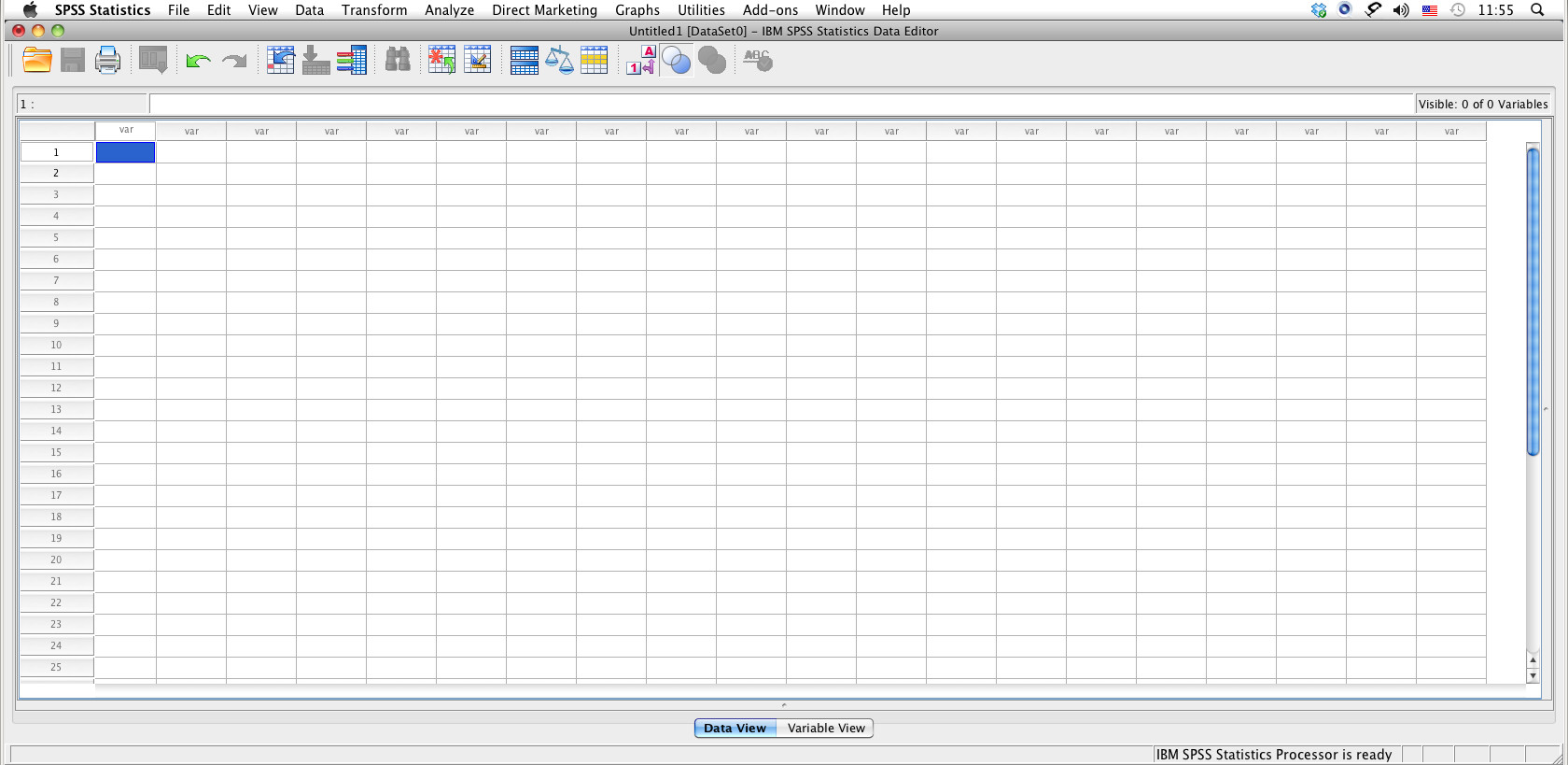Main Interface in Normal Data View