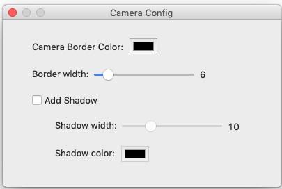 Camera Config