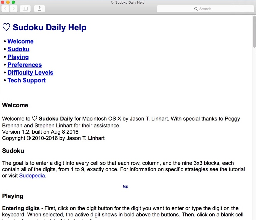 Download free Sudoku Daily for macOS