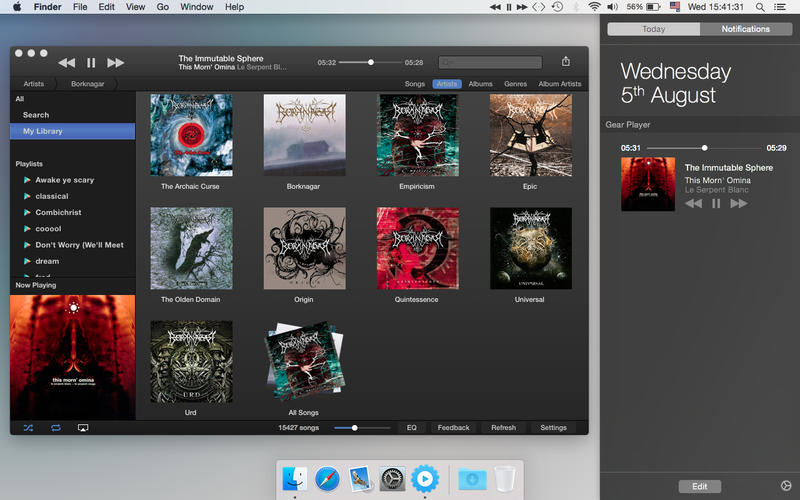 Download free Gear Music Player for macOS