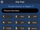 Dial Pad Window