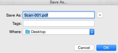 Exporting Scanned Document