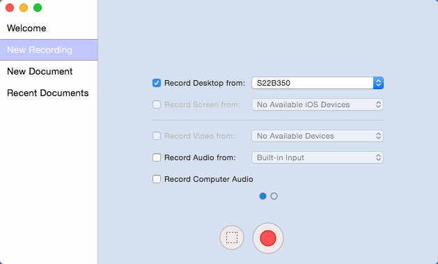 Configuring New Recording Settings