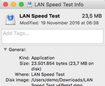 LAN Speed Test: Screenshots - Mac Informer