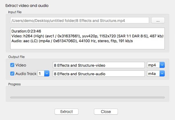Extract Video/Audio Window