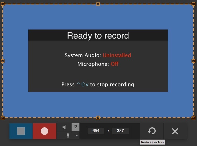 Selecting Video Recording Area