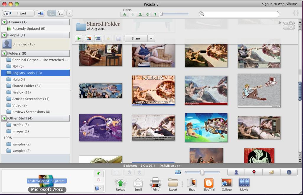 Folders Managing in Picasa