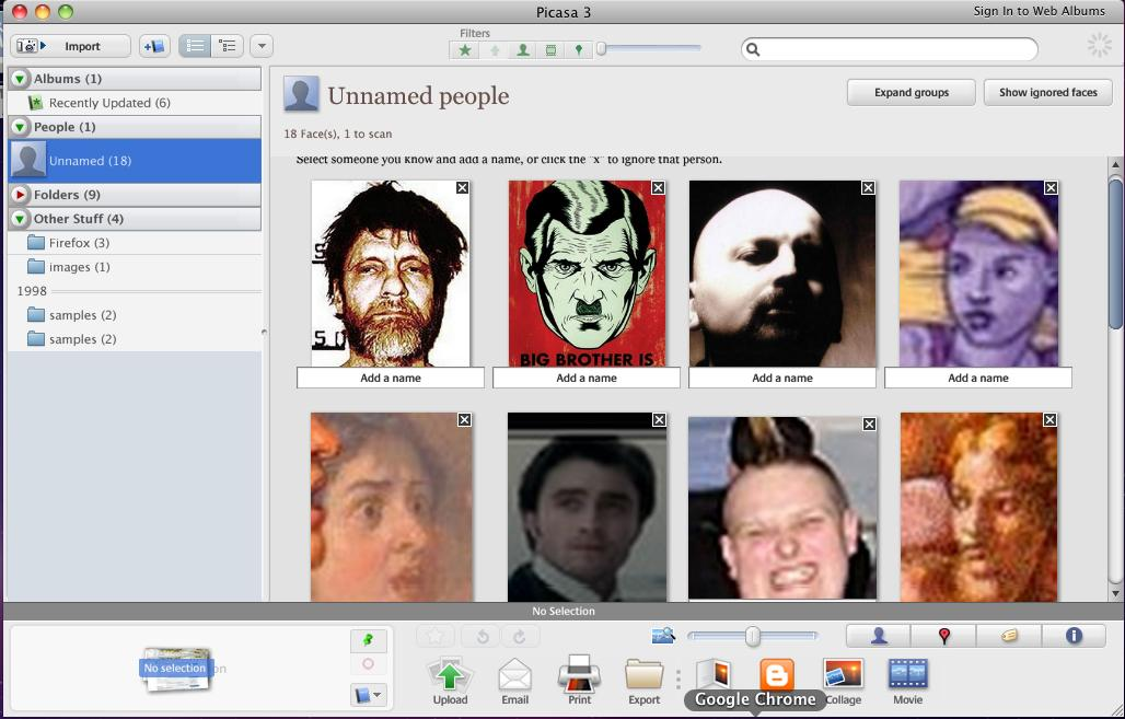 Face Tagging in Picasa