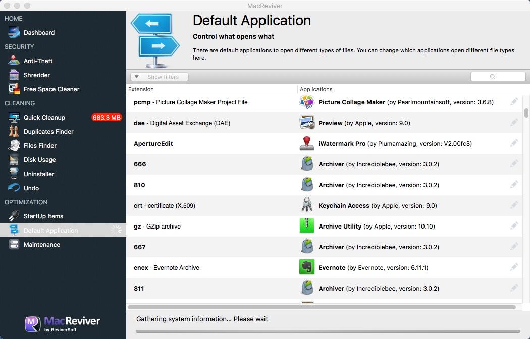 Default Application Window